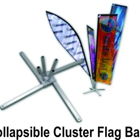 Collapsable Cluster Flag Base