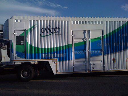 Custom truck branding